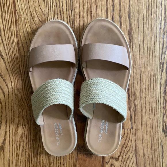 Top Moda Strap espadrille Slide Sandals